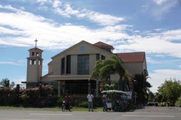 The facade of the Divine Mercy Shrine, Bago City.