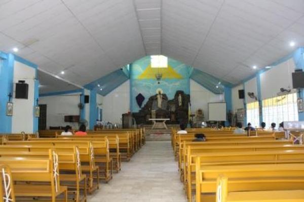 The church's interiors.