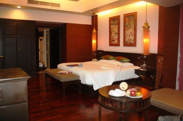 The spacious bedroom in my Royal Lanna Villa.