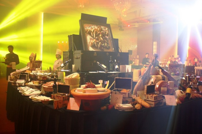 One of the buffet stations during the launch.