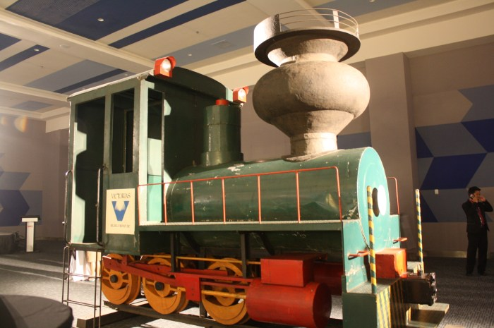The train represented Negros Occidental of long ago.