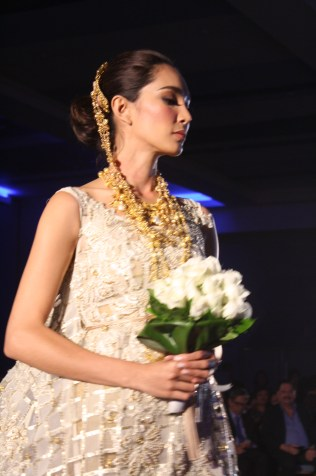 Wedding dress with Filipino architectural elements.