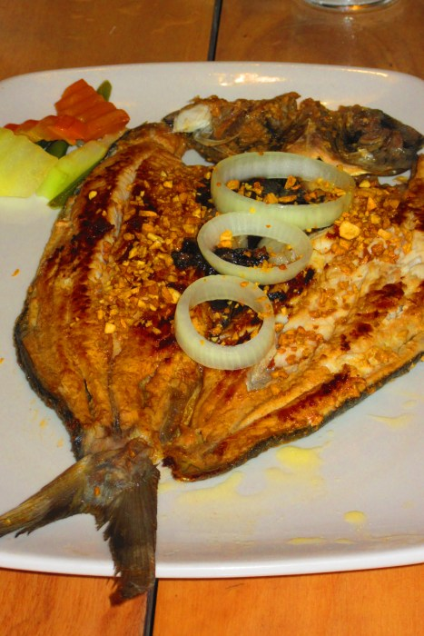 The delectable milkfish. So big and tasty!