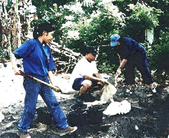 Building homes in Indonesia in year 2002.