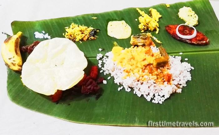 Sadhya feast in Kerala