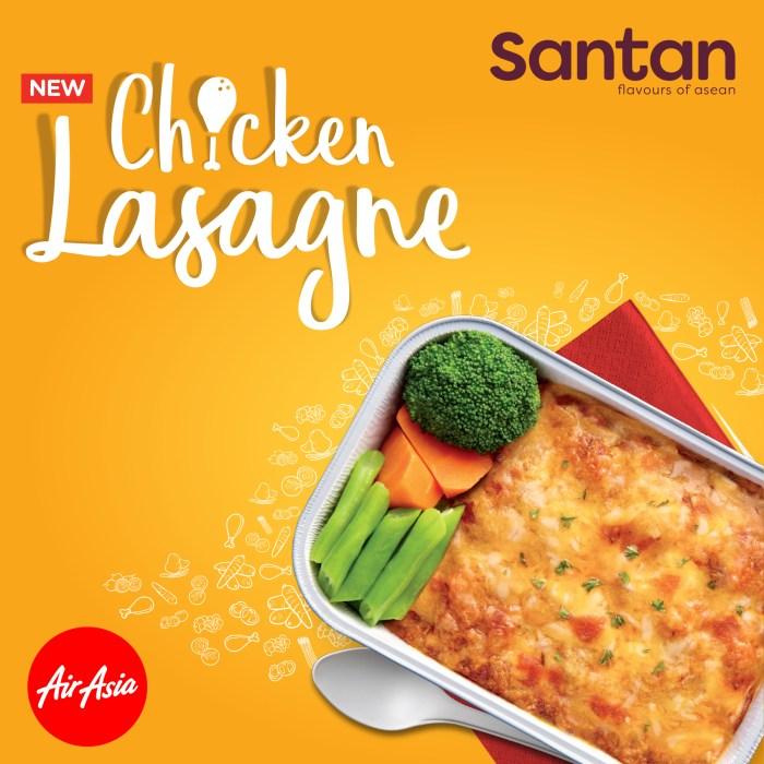 AirAsia Santan menu