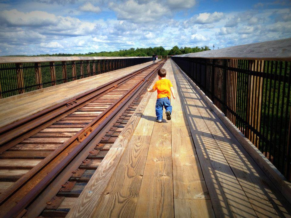Eli on the bridge