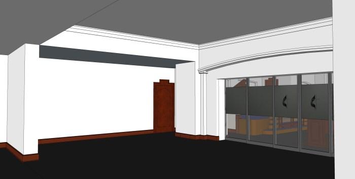 1 - Hospitality Room - Facing Stairwell Door