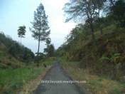 jalan yang menuju ke lokasi air terjun