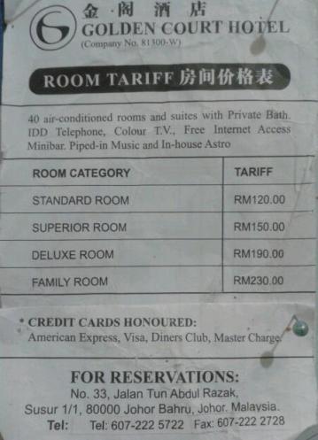 tarif kamar