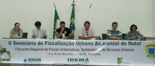 Painel: Fiscalização urbano ambiental, realidades e desafios