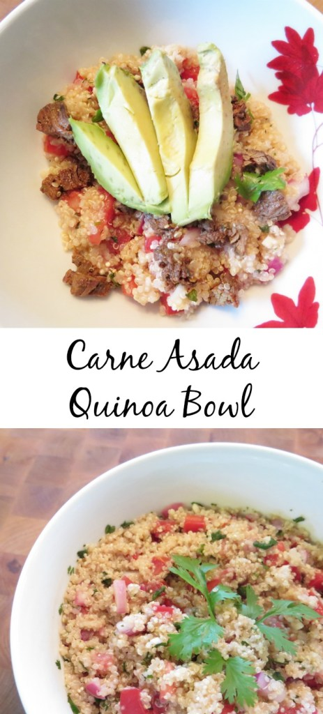 Carne Asada Quinoa Bowl Collage