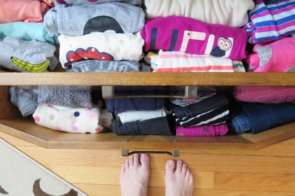 organized clothes dresser