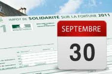 isf date limite Déclaration dimpôt de solidarité sur la fortune de 2011:  date limite de dépôt 30/09
