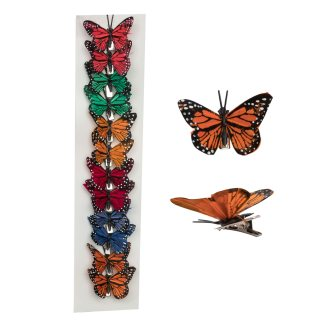 decorative butterfly clips 1.5in