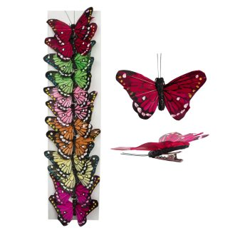 decorative butterfly clips 2in