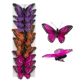 decorative butterfly clips 3in