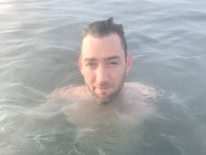 Soaking in the Secret Lagoon