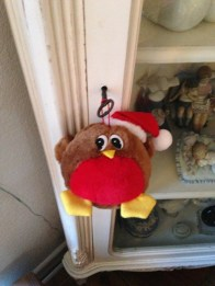 A Robin fluffball - a new decoration for this year