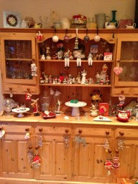 Our dresser which is overrun with Christmas stuff!