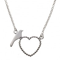Bird and heart necklace