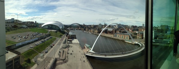 Glorious view of Newcastle from the BALTIC