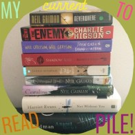My current to read pile, eek!