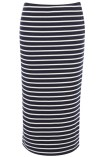 Stripe Tube Skirt