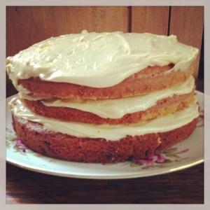 A triple layered cake!