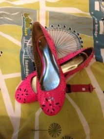 Pink shoes - LOVE!