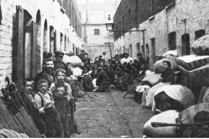 evicted people-central-London-victorian-times