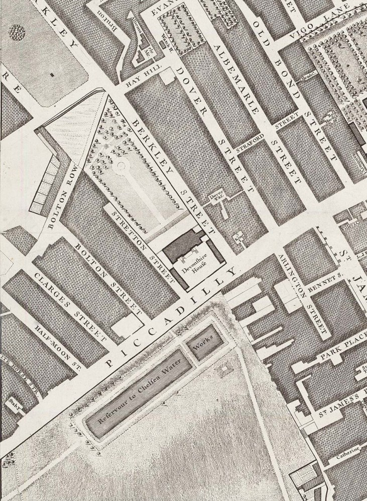 Devonshire-House-1746-map-Piccadilly