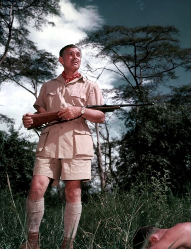 Clark Gable film Mogambo - strój by huntsman and sons - pinterest