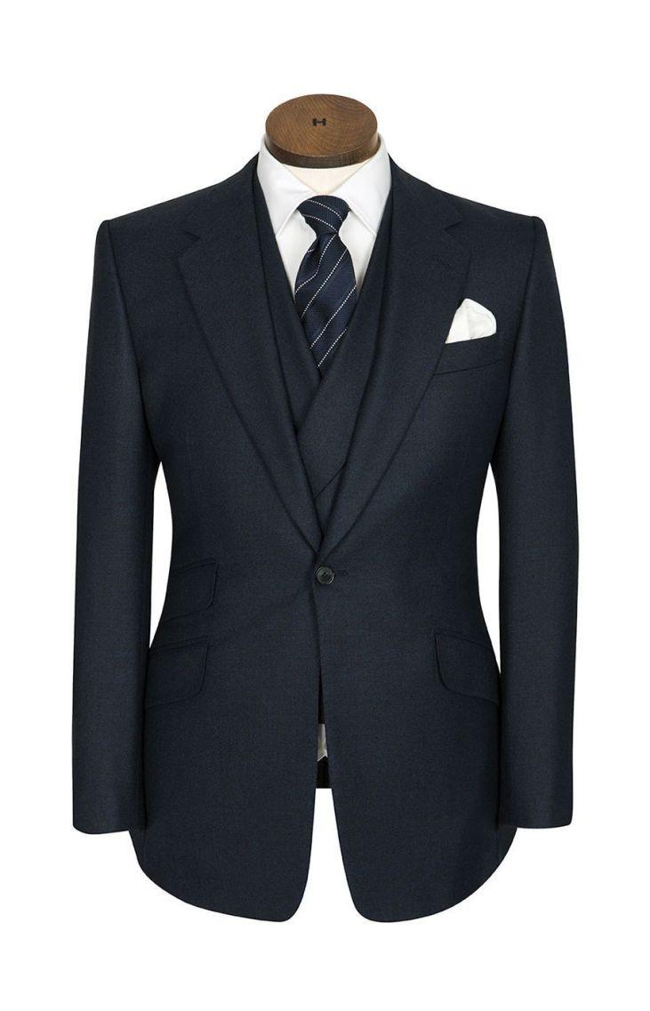 Huntsman-Bespoke-Signature-Cut- 1 button jacket - z ich strony