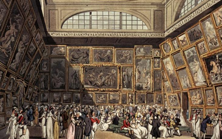 Wernisaż-Sommerset-House-sezon-towarzyski-Londyn-1808