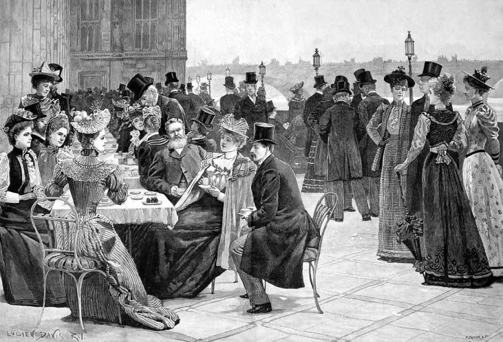 House-of-Commons-tea-party-1893-sezon towarzyski-Londyn