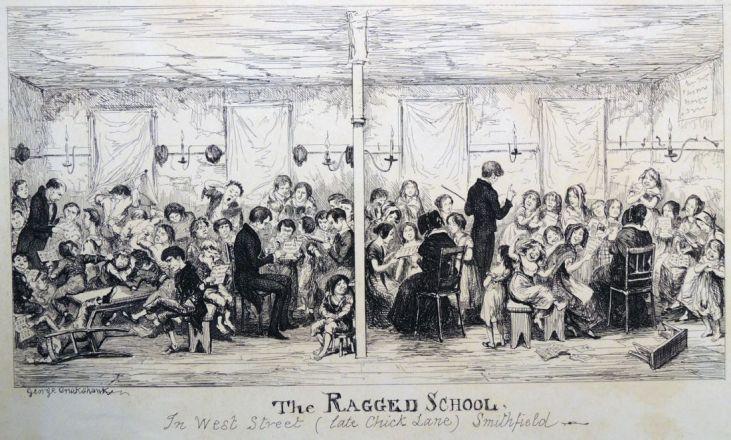 George-Cruikshank-szkoła-dla-dzieci-z-nizin-społecznych-Smithfield-Londyn