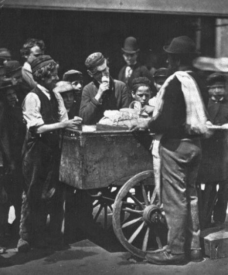 sprzedawca-lodów-wiktoriański-Londyn-dieta-biedoty-miejskiej
