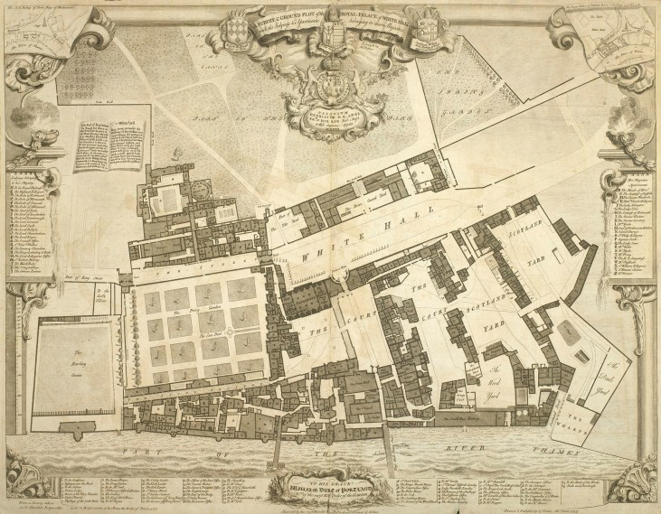 Pałac-Whitehall-1680-mapa