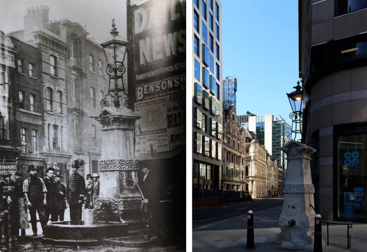 Aldgate-Pump-Londyn-kiedyś-i-dziś