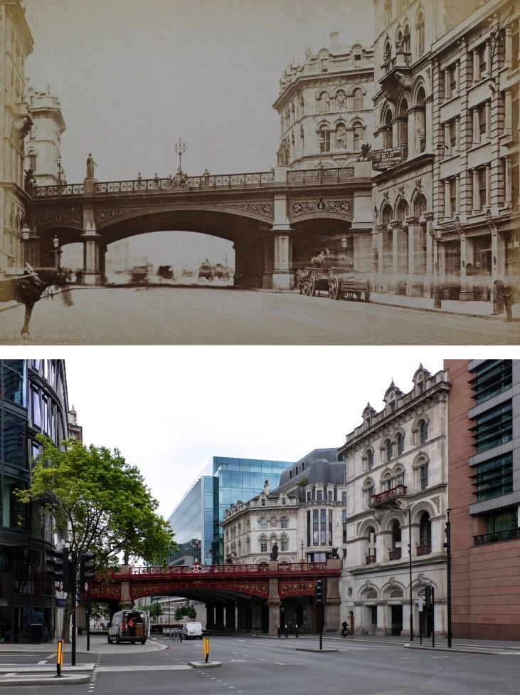 holborn-viaduct-Londyn-kiedyś-i-dziś