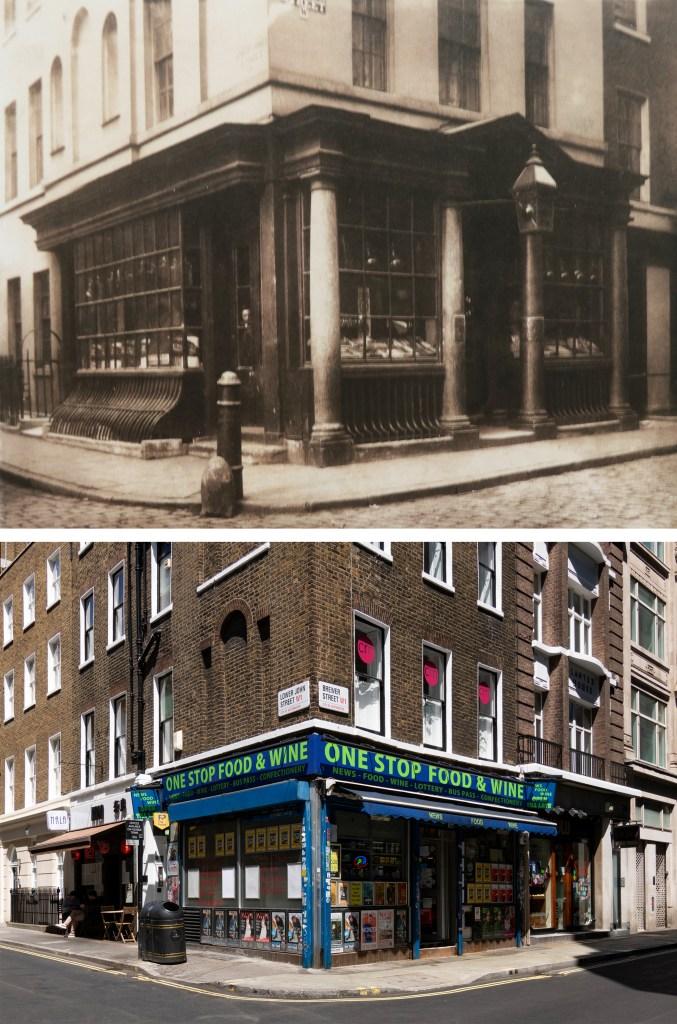Shop-Brewer-Street-Soho-Londyn-kiedyś-i-dziś-1878
