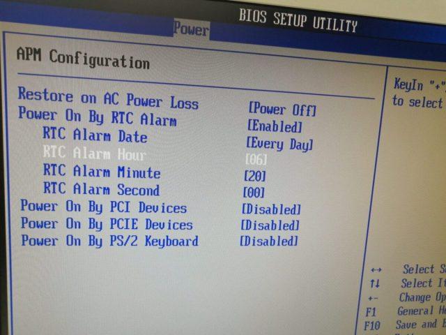 Windowsパソコン自動電源オン設定 電源を自動でつける、自動電源起動の設定をしてみました。