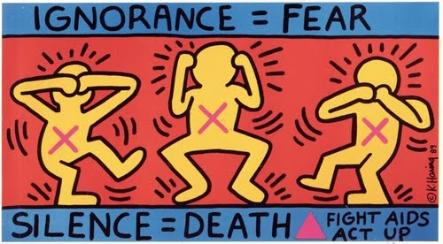 Keith Haring, Ignorance=Fear, 1989