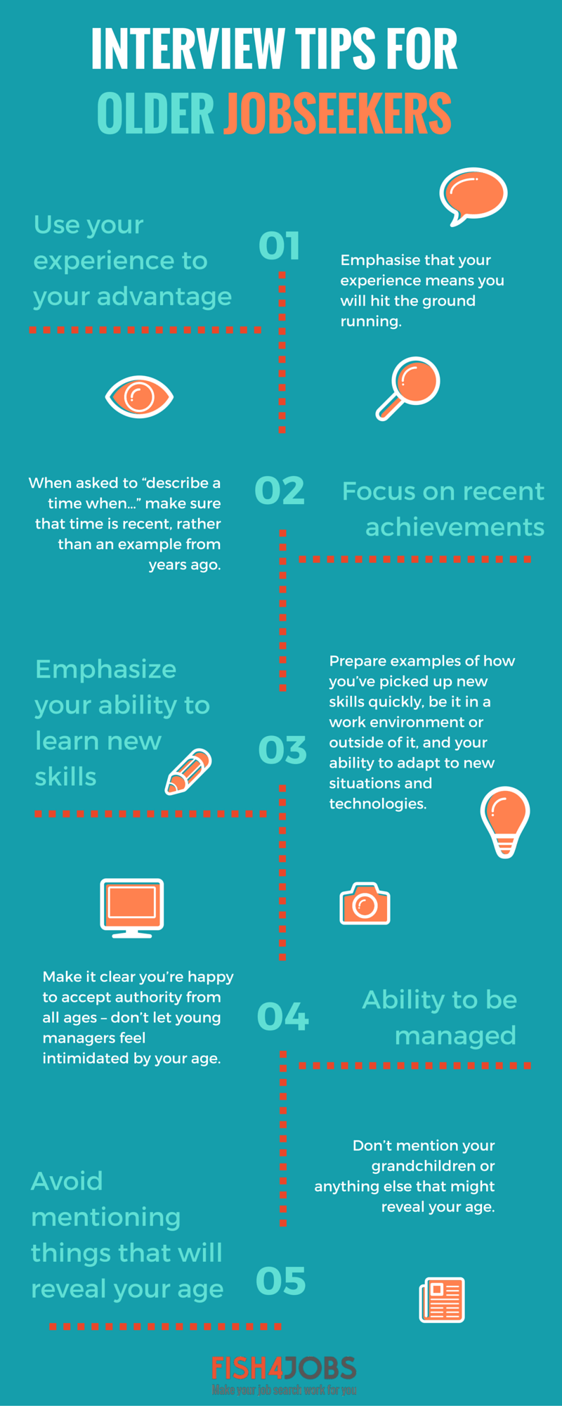 infographic interview tips for older jobseekers career advice however you have a range of tools at your disposal and our top interview tips you ll be ready to go to bat against the competition