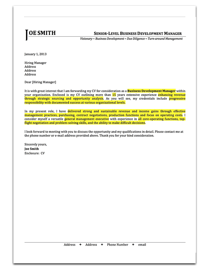 cover letter drop shadow 3 - Effective Cover Letter