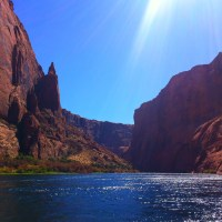 Floating On The Colorado River Through Glen Canyon