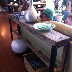 Making Your Own Sofa Table Faux Leather 3 Seater Bed Upcycling Plank  Fish And Bicycles