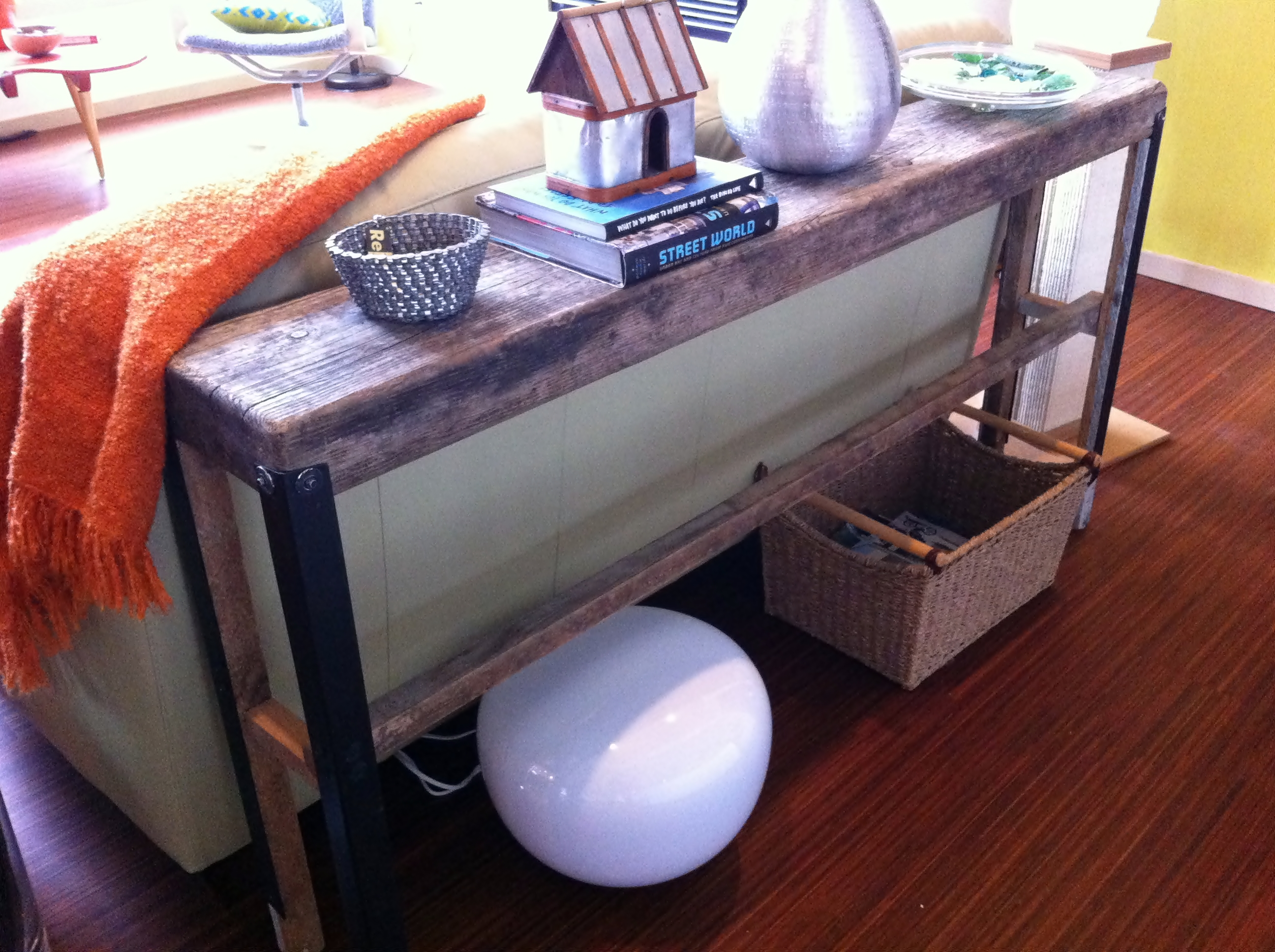 how tall should a table lamp be next to sofa inflatable sofas upcycling plank  fish and bicycles