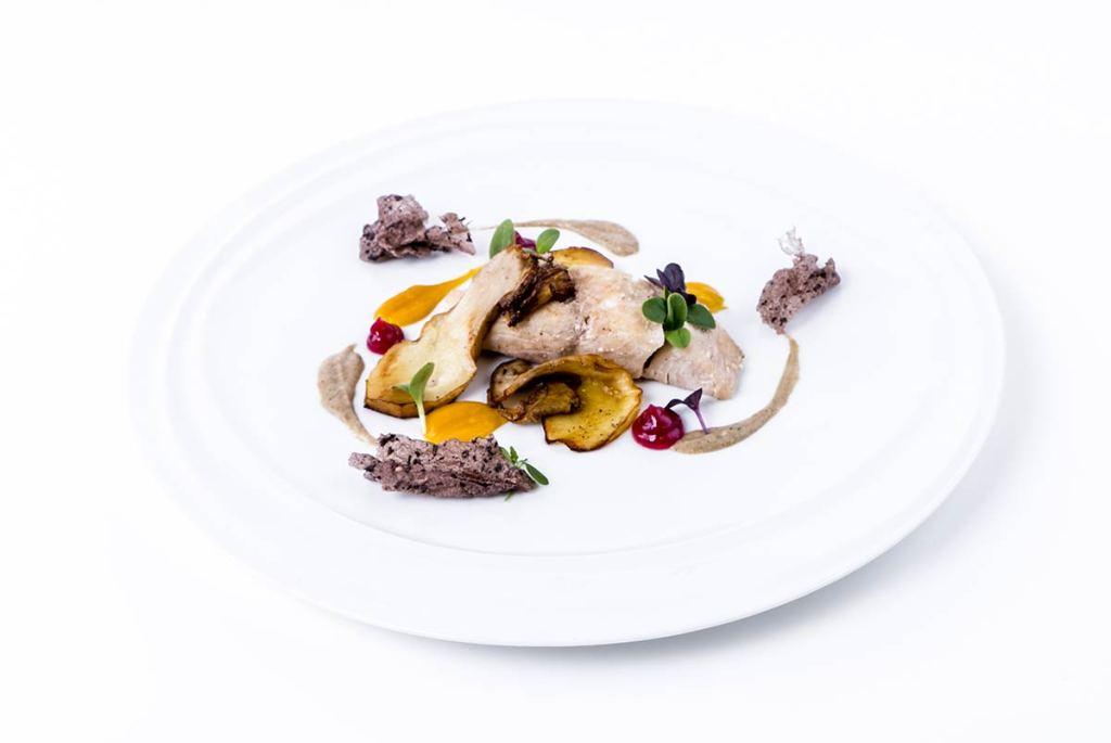 Cobia crema di zucca e porcini- ricette del dream team - chef Giuliana Germinasi